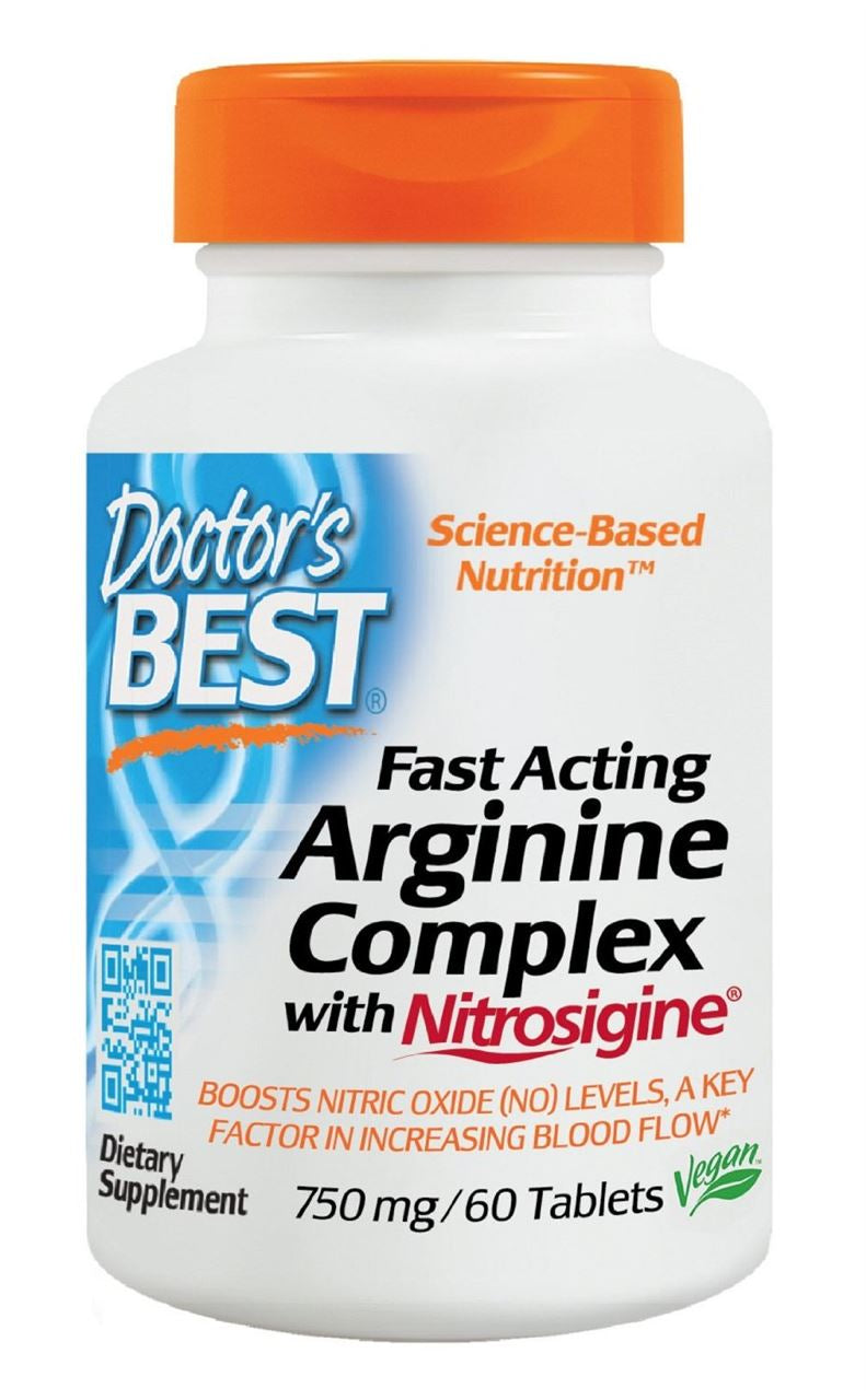 Doctor's Best Fast Acting Arginine Complex with Nitrosigine Tablets 60