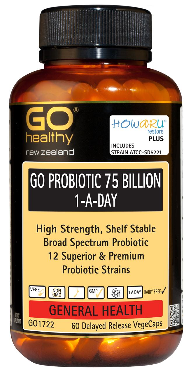 Go Healthy Probiotic 75 Billion 1-A-Day VegeCapsules 60