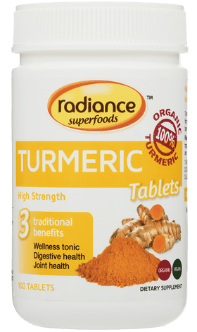 Radiance Superfoods Turmeric Tablets 100