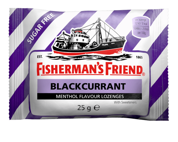 Fishermans Friend Blackcurrant Flavour Menthol Lozenges 25g