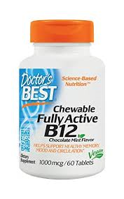 Doctor's Best Chewable Fully Active B12 1000mcg Tablets 60