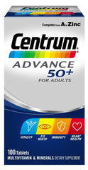 Centrum Advance 50+ Multivitamin and Mineral Tablets 100's