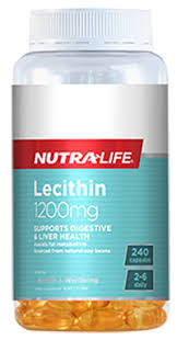 Nutra-Life Lecithin 1200mg High Strength Capsules 240