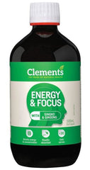 Clements Energy & Focus (with Ginkgo & Ginseng) Liquid 500ml