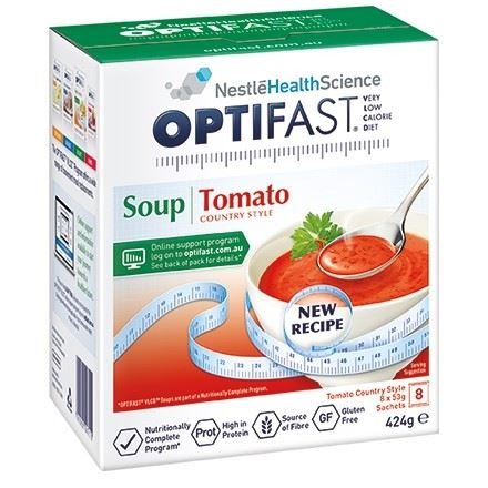 Optifast VLCD Tomato Soup Country Style 8 x 53g Sachets