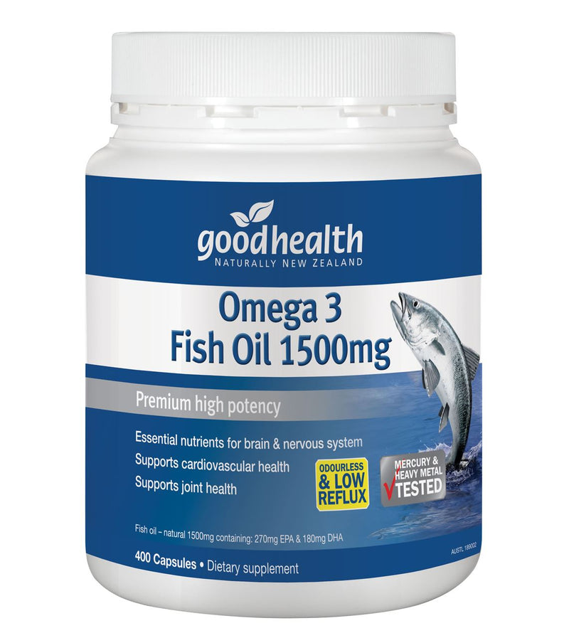 Good Health Omega 3 Fish Oil 1500mg Capsules 400