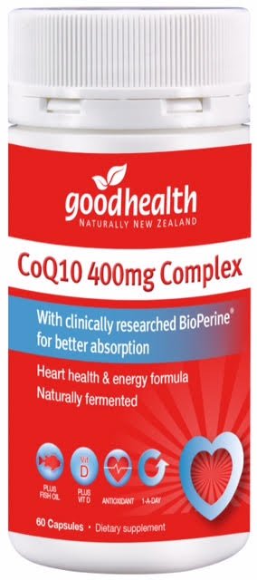 Good Health CoQ10 400mg Complex Capsules 60