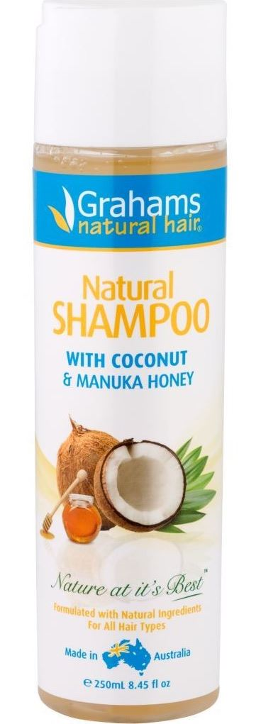 Grahams Natural Shampoo with Coconut & Manuka Honey 250ml