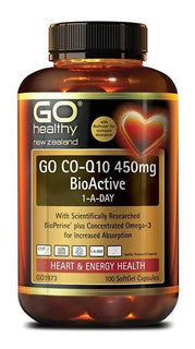 Go Healthy Co-Q10 450mg BioActive 1-A-Day Capsules