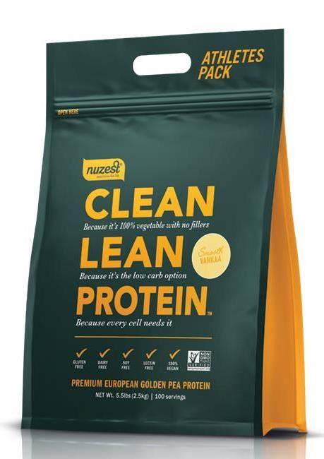 Nuzest Clean Lean Protein Golden Pea Isolate Smooth Vanilla 2.5kg - FREE SHIPPING WITHIN NEW ZEALAND