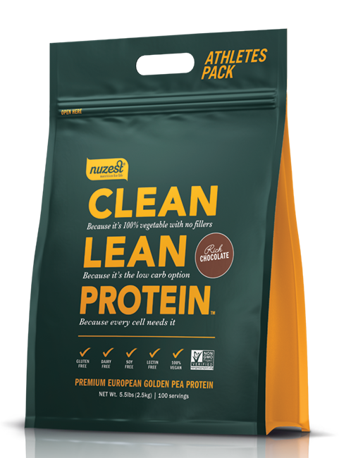 Nuzest Clean Lean Protein Golden Pea Isolate Rich Chocolate 2.5kg - FREE SHIPPING WITHIN NEW ZEALAND