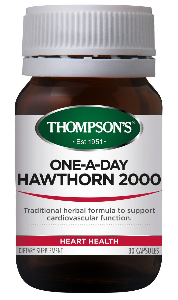 Thompsons Hawthorn 2000mg One-A-Day Capsule 30