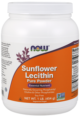Now Foods Sunflower Lecithin Pure Powder (Non-GMO) 454g