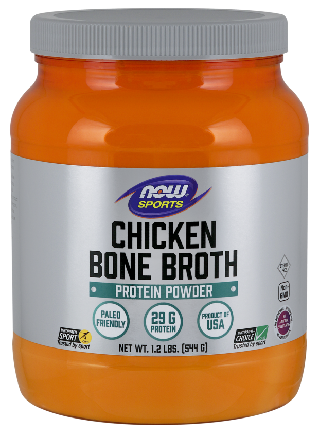 Now Sports Chicken Bone Broth Protein Powder 544g