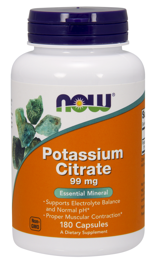 Now Foods Potassium Citrate 99mg Veg Capsules 180