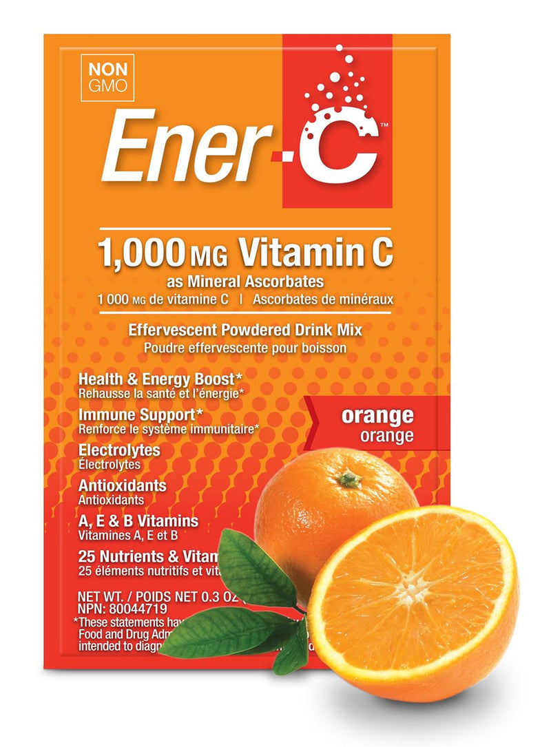 Ener-C Orange Multivitamin Drink Mix - 1000mg Vitamin C, Sachets 12