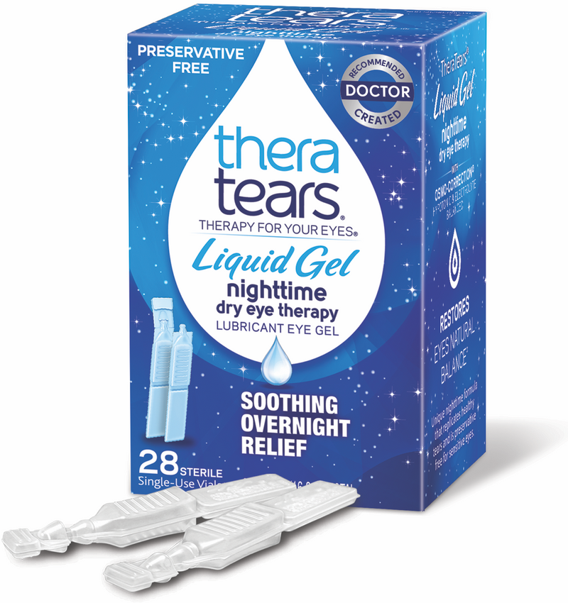 TheraTears Liquid Gel Lubricant Eye Drops Preservative Free 28 x 0.6ml
