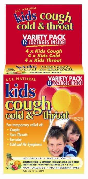 Key Sun Kids Cough Cold & Throat Lollipops Multipack 12