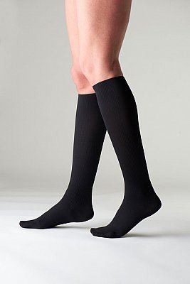 Sigvaris Traveno Travel Socks Size 4 Black - (EU 42 - 43 / UK 8 - 9)