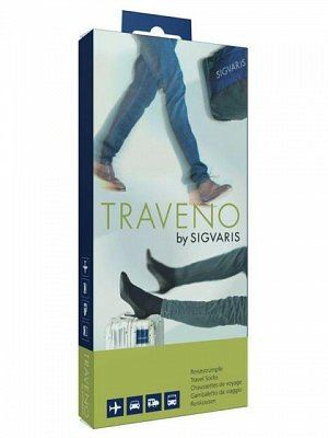 Sigvaris Traveno Travel Socks Size 5 Black - (EU 44 - 45 / UK 9.5 - 10.5)
