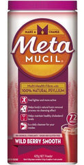 Metamucil Powder Wild Berry Smooth 72 Dose 425g