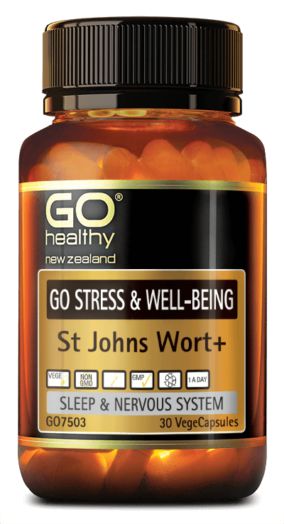 Go Healthy Stress & Well-Being St Johns Wort+ VegeCapsules 30