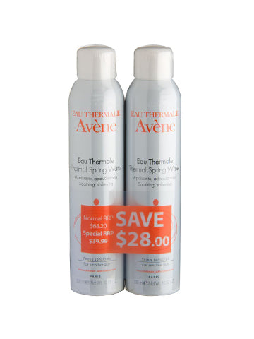 Avene Thermal Spring Water 2 x 300ml