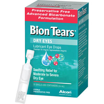 Bion Tears Lubricant Eye Drops 0.4ml x 28