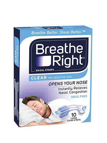 Breathe Right Nasal Strips Clear (Small/Medium) 10