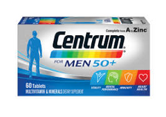 Centrum for Men 50+ Multivitamin and Mineral Supplement Tablets 60