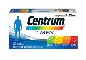 Centrum for Men Multivitamin and Mineral Supplement Tablets 60