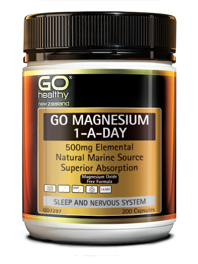 Go Healthy Magnesium 1-A-Day Capsules