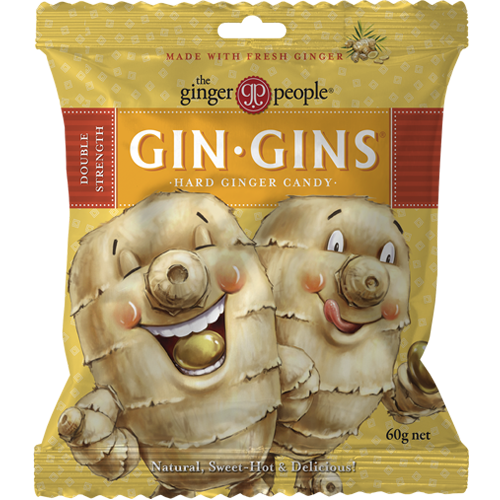 Gin Gins Double Strength Hard Ginger Candy 60g