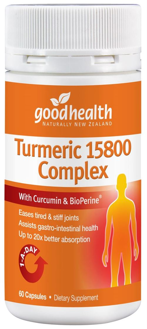 Good Health Turmeric 15800 Complex with Curcumin & BioPerine Capsules