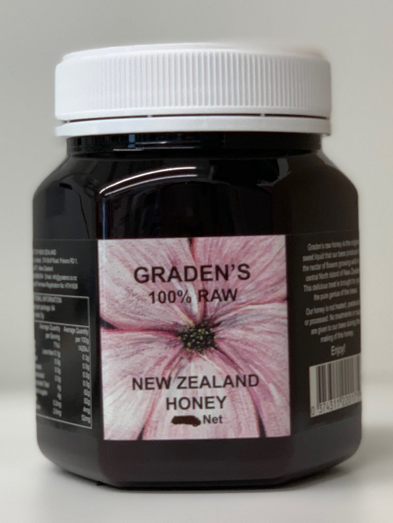 Graden's 100% Raw New Zealand Honey 1kg