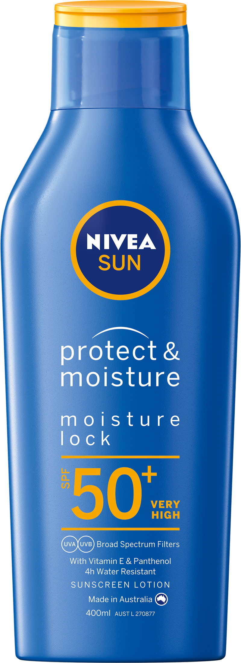 Nivea Sun Protect & Moisture Moisturising Sunscreen Lotion SPF 50+ 400ml