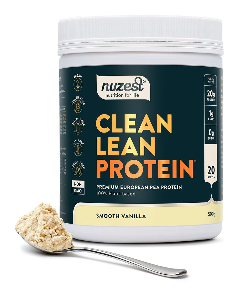 Nuzest Clean Lean Protein Golden Pea Isolate Smooth Vanilla 500g