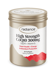 Radiance CoQ10 300mg + Vitamin D3 Capsules 60