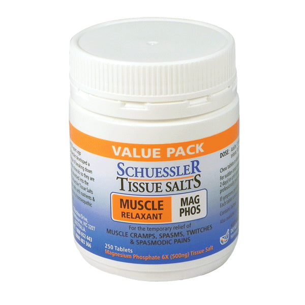 Schuessler Tissue Salts Mag Phos 8 - Muscle Relaxant Tablets