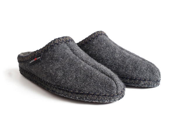 Halflinger Wool Slippers Grey