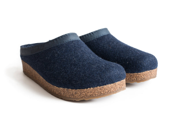 Haflinger Cork & Wool Clogs Blue