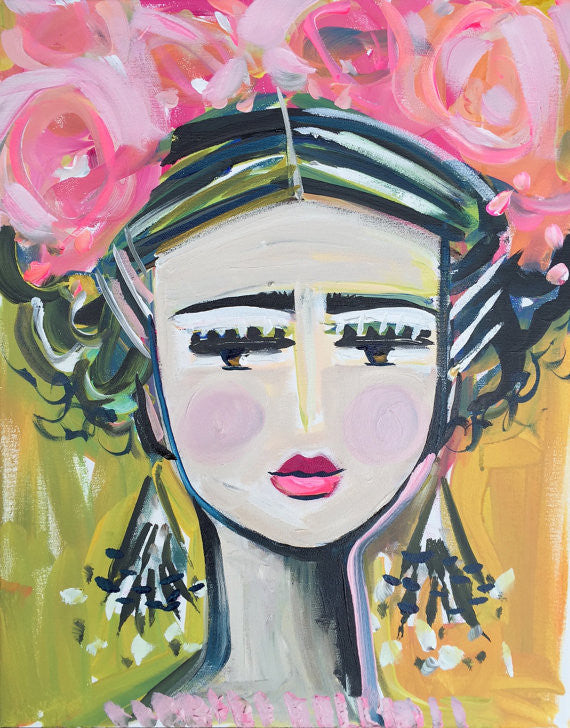 Frida & Flowers painting