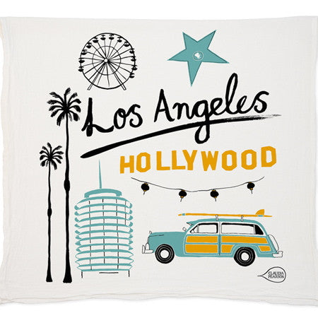 HOLLYWOOD~Los Angeles tea towel