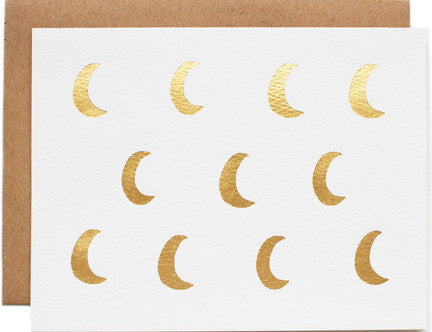 Moon phase greeting card