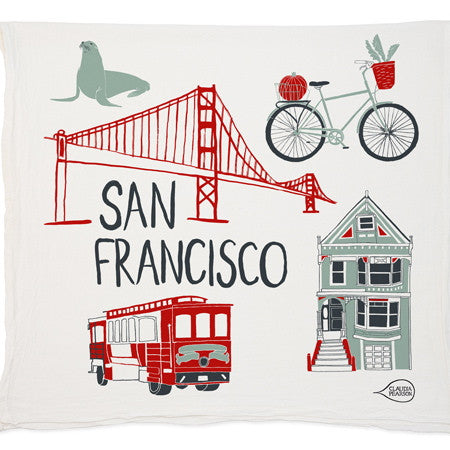 SAN FRANCISCO~ inspired tea towel