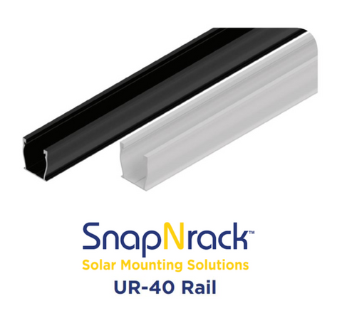 "Snap N Rack - 168"" UR-40 Ultra Rail - Solar Roof Mount"