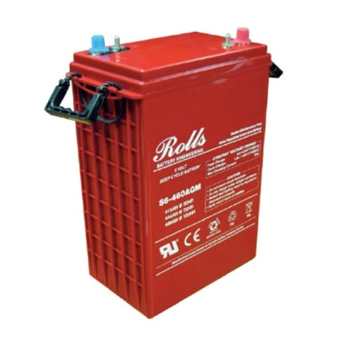 Solar + Battery Backup: Rolls AGM Battery - 6V / 415 Ah - Maintenance Free