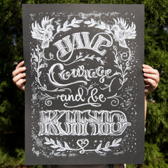 Chalk Poster by Kim Panella