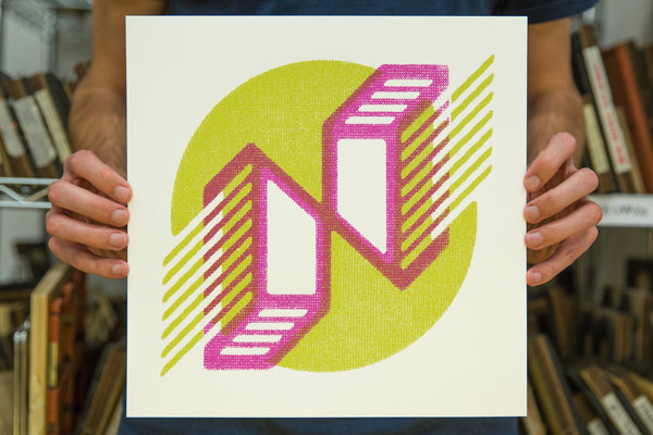 """N"" Poster by Karl Hebert for The Typefight"