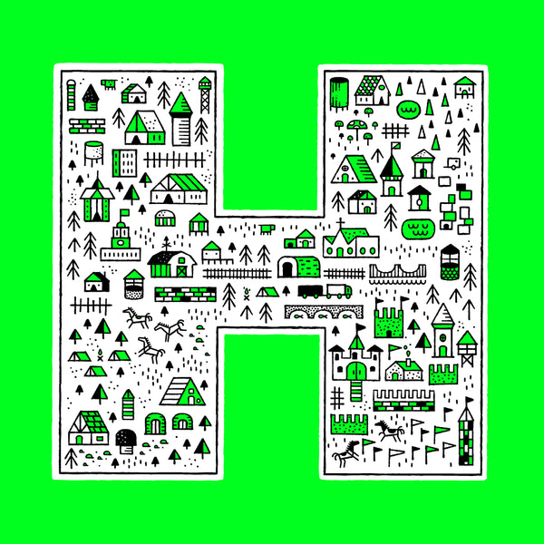 """H"" Poster by Dan Cassaro for The Typefight"